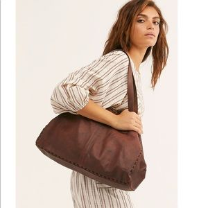 NWT free people Camille leather tote